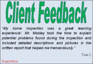 Prewmium Quality Home Inspection Feedback form Tina C