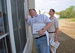 Premium Quality Home Inspector inspecting home